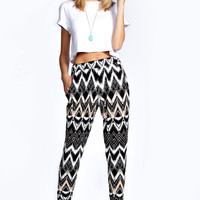 Taylor Tribal Print Relaxed Trouser