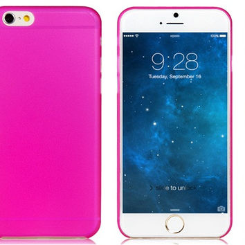 Ultra thin Plastic Back Cover Case for iPhone 6