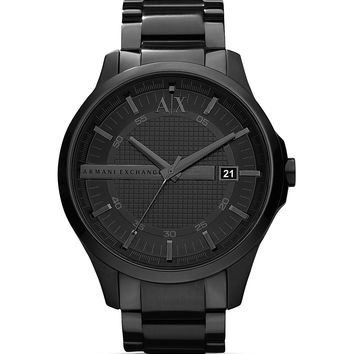 Armani Exchange Black Stainless Steel Watch 46mm