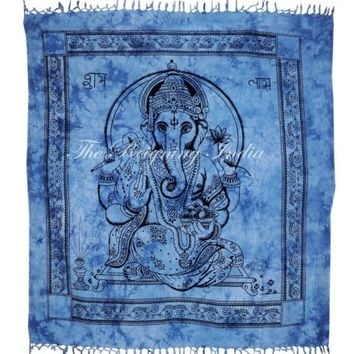 INDIAN GANESHA TAPESTRY WALL HANGING HIPPIE COTTON THROW