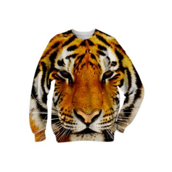 Siberian Tiger Sweatshirt created by ErikaKaisersot | Print All Over Me