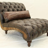 P9986-02 Tufted Chaise by Old Hickory Tannery - The Online Furniture Store