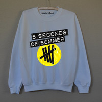 5 Seconds Of Summer white sweatshirt for women T-shirts
