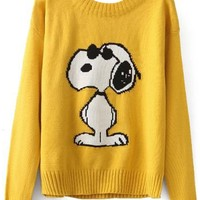 Snoopy Doggie Pattern Sweater