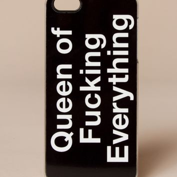 Queen Of Fcking Everything iPhone 5s Case by Zero Gravity