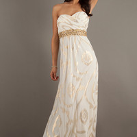 Long Strapless Print Prom Dress by Betsy and Adam