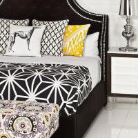 www.roomservicestore.com - Hollywood Bed in Black Velvet