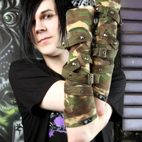 Tripp Army Camo Armwarmers :: VampireFreaks Store :: Gothic Clothing, Cyber-goth, punk, metal, alternative, rave, freak fashions