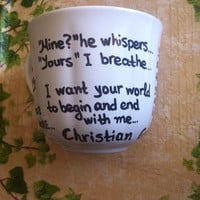 Fifty Shades of Grey Mug with Christian Grey quotes and Gift Box