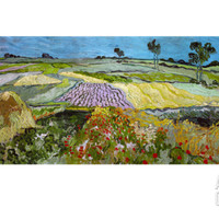 The Plain at Auvers, c.1890 Giclee Print by Vincent van Gogh at Art.com