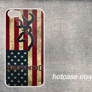 browning deer chevron design iPhone case for iphone 5 case,iphone 5s case, American Flag For iphone 5 5S Phone Cases