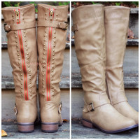 Oliver Rock Taupe Stud Boots