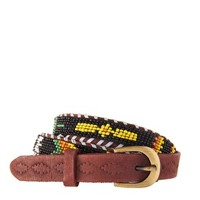 ASOS Leather and Geo-Tribal Bead Waist Belt