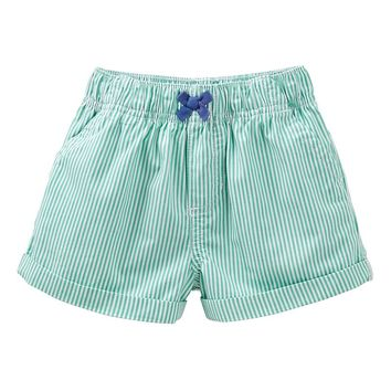 Carter's Striped Woven Shorts - Baby