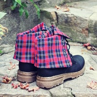 The Woodland Plaid Boots
