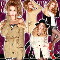 [Sexy beauty line charms you; knit gown cardigan | belonging to ♪ fur GC| It has been had DB] ◆