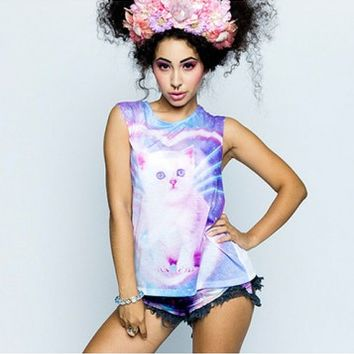 TOP | Funky Catsterz Muscle Tee