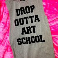 SWEET LORD O'MIGHTY! DROPOUT TANK IN GREY