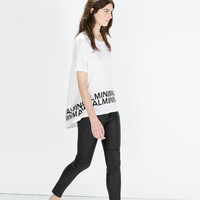 Cotton t-shirt with text
