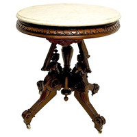 American Victorian Lamp Table