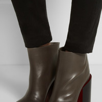 Jil Sander Chunky-heel leather ankle boots – 55% at THE OUTNET.COM