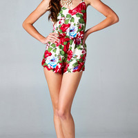 BACKLESS FLORAL SCALLOPED ROMPER | PUBLIK | Women's Clothing & Accessories