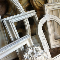 Distressed Vintage Frames Shabby Chic Upcycled Painted Wedding Beach Decor