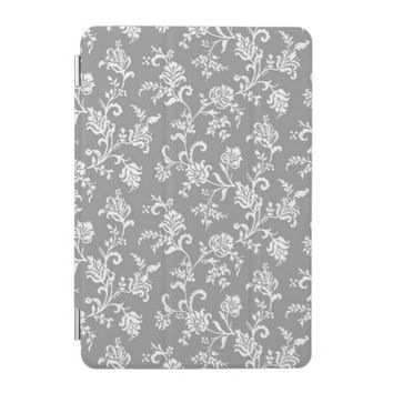 Modern Gray Floral Pattern iPad Mini Cover