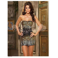 Summer Strapless Sequins Sexy Dress With Belt [TQL120319011] - £19.59 :