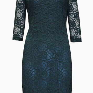 Kay Lace Bodycon Dress in Emerald