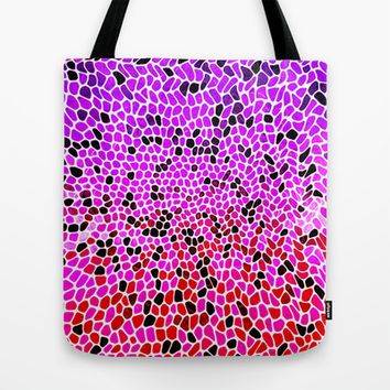 THINK LILAC CORAL Tote Bag by Catspaws | Society6