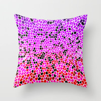THINK LILAC CORAL Throw Pillow by Catspaws | Society6