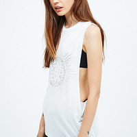 Sparkle & Fade Dimensions Burnout Tank in White - Urban Outfitters