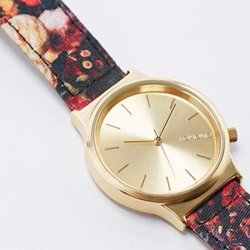 Komono Floral Leather Analogue Watch - Urban Outfitters