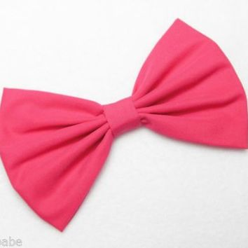Magenta Hair bow clip for women teens girls back to school accessories cute new