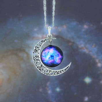 Moon Pendent Necklace from Now and Again Co.