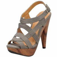 PEEP TOE CUTOUT DESIGN SANDAL @ KiwiLook fashion
