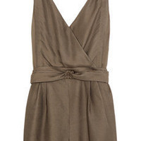 3.1 Phillip Lim Knot-front textured-silk playsuit - 52% Off Now at THE OUTNET