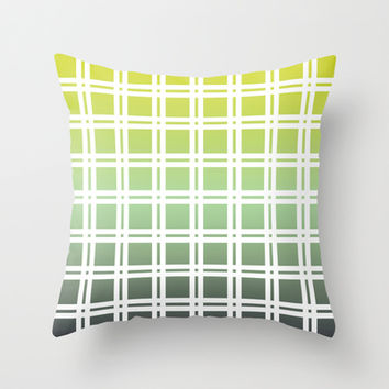 Green Weaver Throw Pillow by All Is One