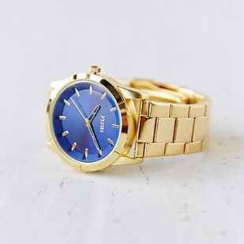 Flud The Moment Gold   Blue Watch  Urban Outfitters