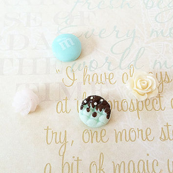 Small Flower Magnets – Mint Candy Magnet – Mini Fridge Magnet – Dessert Sweets Magnets – Cookie -…