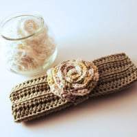 Cotton Decolletage Rosette and Wash Cloth Set- 100% Cotton Hand Crochet- Gift for the Bride, Maid of Honor, Bridesmaids- Luxury Wash Cloth