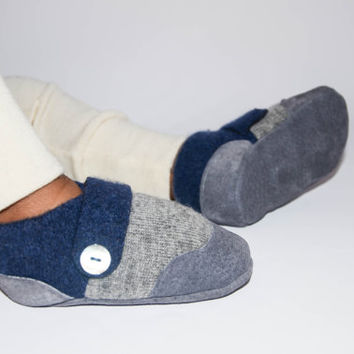 Baby Boy Cashmere Shoes, Baby Girl Cashmere Slippers, Wool Toddler Slippers, Eco-Friendly and…