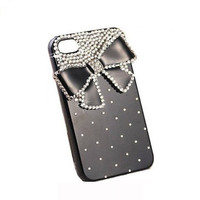 Handmade hard case for iPhone 4 &amp; 4S: Bling elegant diamond bow (custom are welcome)
