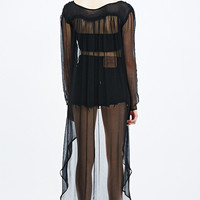 Kimchi Blue Femme Duster Blouse in Black - Urban Outfitters