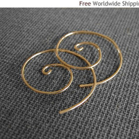 Modern Spiral Earrings - Elegant Swirls - Popular Jewelry by NadinArtDesign