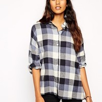 ASOS Blue Check Oversized Shirt
