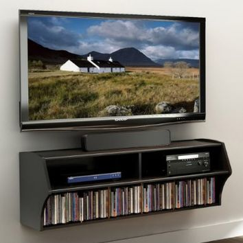 Prepac Altus Wall Mounted AudioVideo Console BlackAmazonHome