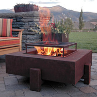 Fire Pit to relax in the evenings as well as the exterior for your home | : Architecture Home Designs