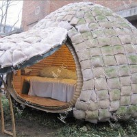 Egg shaped bamboo houses with solar system | : Architecture Home Designs